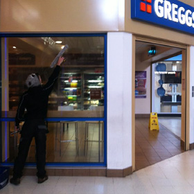 Retail Window Cleaners - Greggs